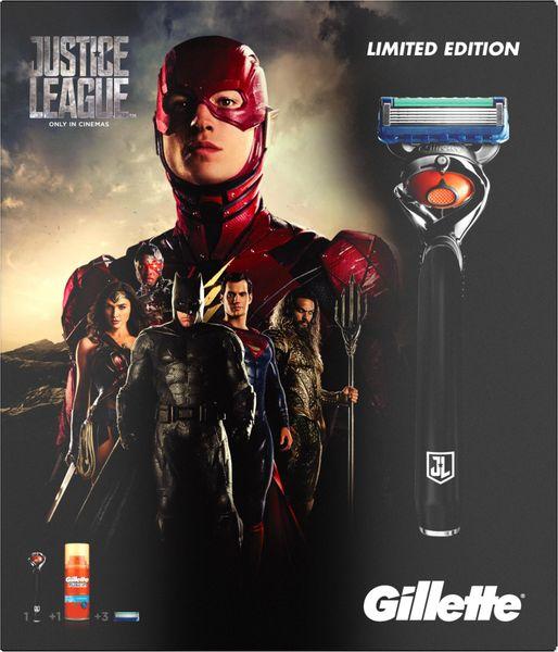 Gillette Fusion ProGlide Holící strojek + 2 hlavice + Gel na holení 75 ml - Justice Leaguee