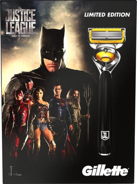 Gillette Fusion ProShield Holící strojek + 3 hlavice - Justice League