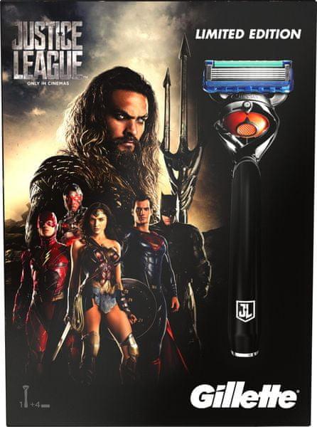 Gillette Fusion ProGlide Holící strojek + 3 náhradní hlavice - Justice League