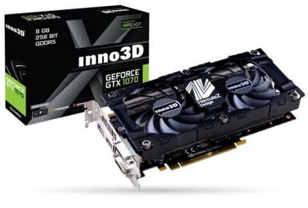 inno3D grafična kartica GTX1070 X2 V3, 8GB GDDR5 (N1070-2SDV-P5DS)