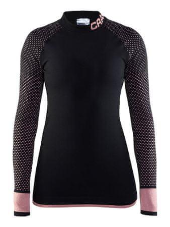 Craft ženska majica Warm Intensity CN LS, črno-vijolična, XS