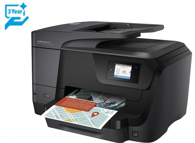 HP OfficeJet Pro 8715 All-in-One (J6X76A) + Cashback 1 000 Kč!