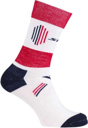 Swix Cross Country light ponožky Bílá/červená 37/39