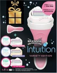 Wilkinson Sword Intuition strojek + 3 různé náhradní hlavice