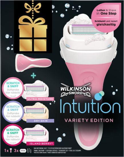 Wilkinson Sword Intuition maszynka + 3 różne głowice zastępcze