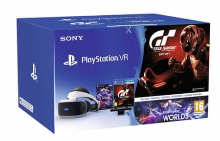 SONY PlayStation VR + Camera v2 + Gran Turismo Sport + VR Worlds 2