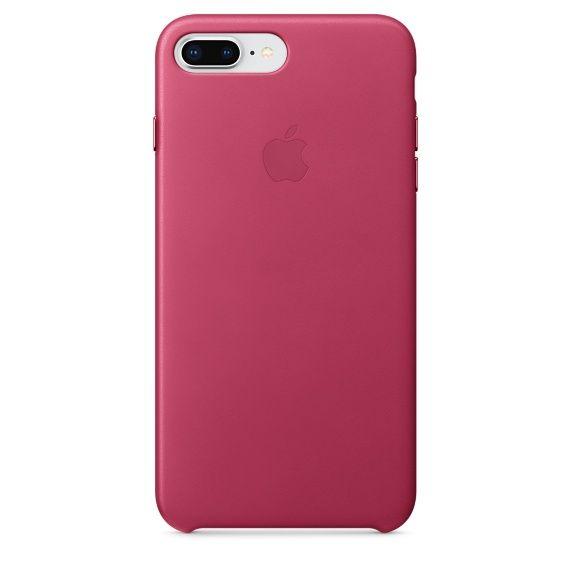 Apple Kožený kryt, Apple iPhone 8 Plus / 7 Plus, MQHT2ZM/A, Pink Fuchsia