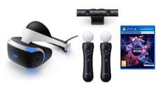 SONY PLAYSTATION VR + PLAYSTATION CAMERA V2 + MOVE CONTROLLER TWIN PACK + PLAYSTATION VR WORLDS