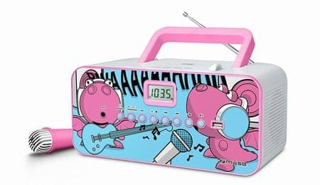 Muse prenosni CD radio M-29 KDG roza