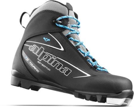 Alpina ženski čevlji za tek na smučeh T 5 Eve, črno-modro-bele, 42
