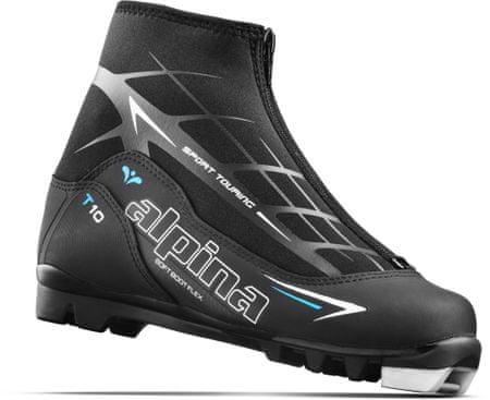 Alpina ženski čevlji za tek na smučeh T 10 Eve, črno-modro-bele, 35