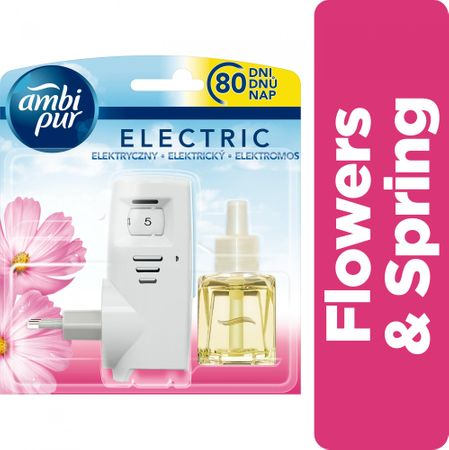 Ambi Pur Plug-In Flowers & Spring Osvěžovač ve startovací sadě 20ml