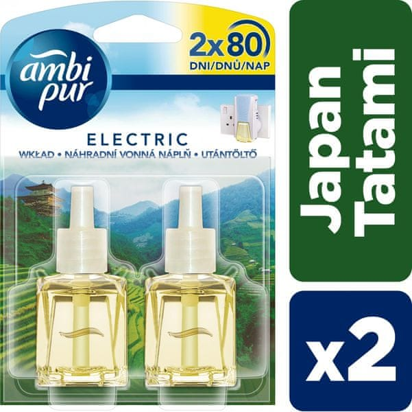 Ambi Pur Electric náplň Japan Tatami Duopack 2 x 20 ml