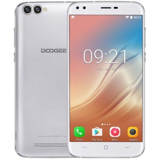 Doogee X30 2GB/16GB, Dual SIM, stříbrný