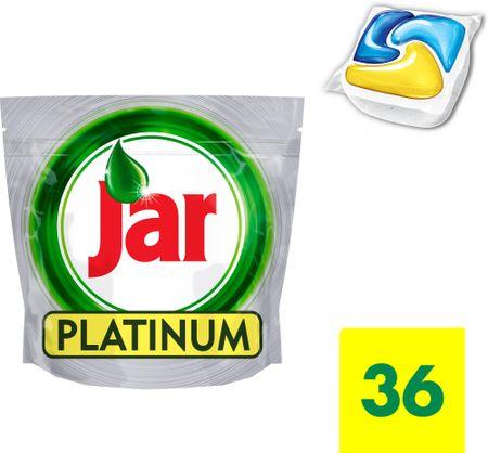 Jar Platinum Mosogatógép kapszula, 36 db, Sárga
