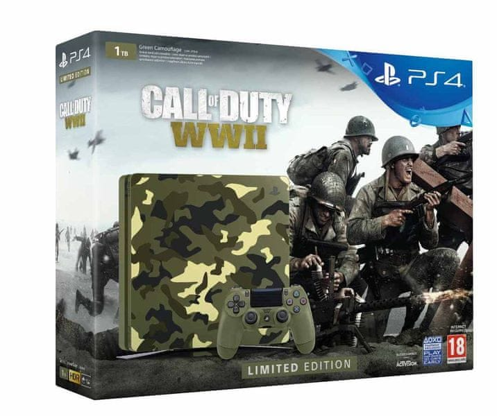 Sony PlayStation 4 Slim - 1TB + Call of Duty: WWII Limited Edition