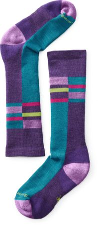 SmartWool Kids Wintersport Stripe Mountain Purple 26-28