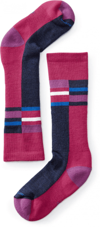 SmartWool Kids Wintersport Stripe Potion Pink 29-32