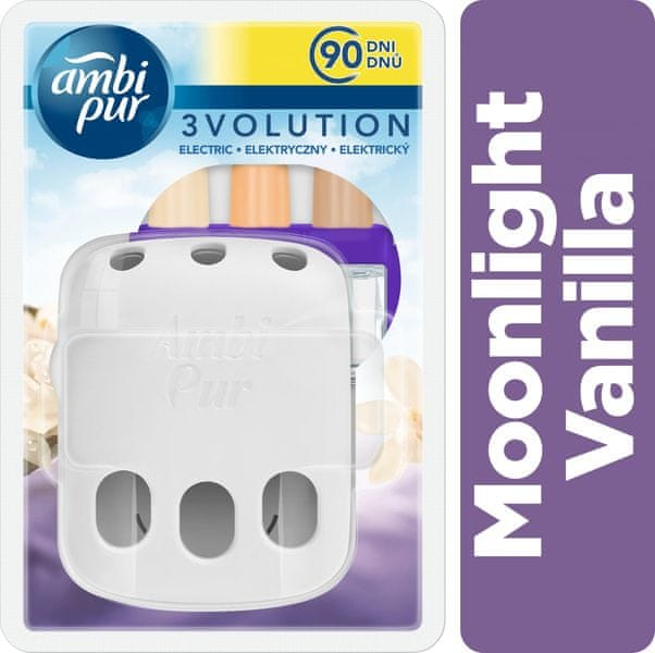 Ambi Pur 3vol strojek + náplň Moonlight Vanilla 20ml
