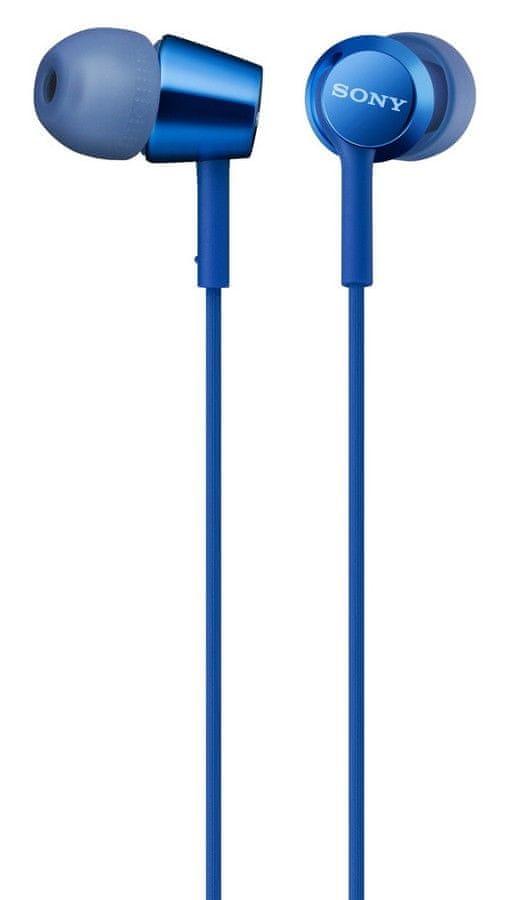 Sony MDR-EX155AP, modrá - zánovní