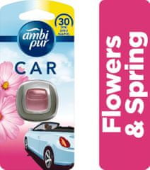 Ambi Pur Car Flowers & Spring Připínací Osvěžovač vzduchu 1ks