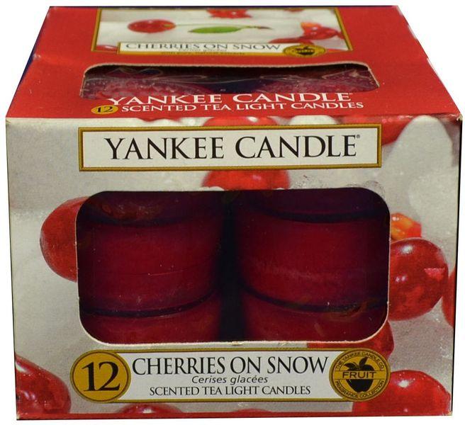 Yankee Candle Čajové svíčky Cherries On Snow 12x 9,8 g