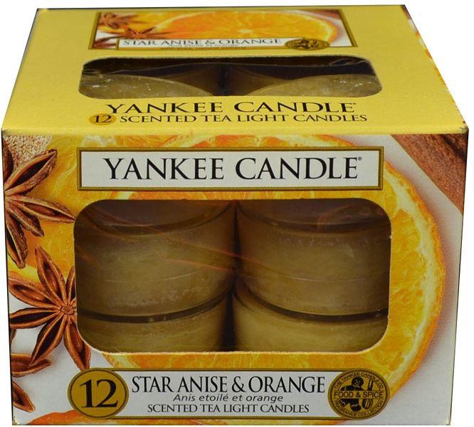 Yankee Candle Čajové svíčky Star Anise & Orange 12x 9,8 g