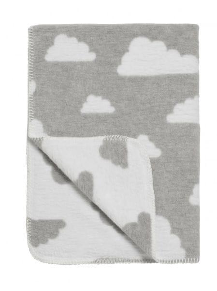 Meyco Deka 75x100 cm Premium Dessin Little Clouds grey