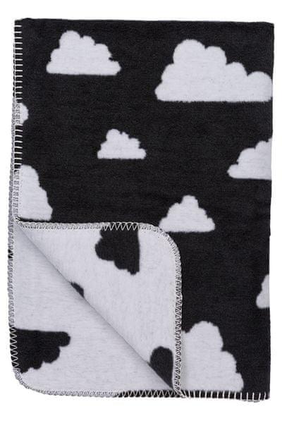 Meyco Deka 75x100 cm Premium Dessin Little Clouds black