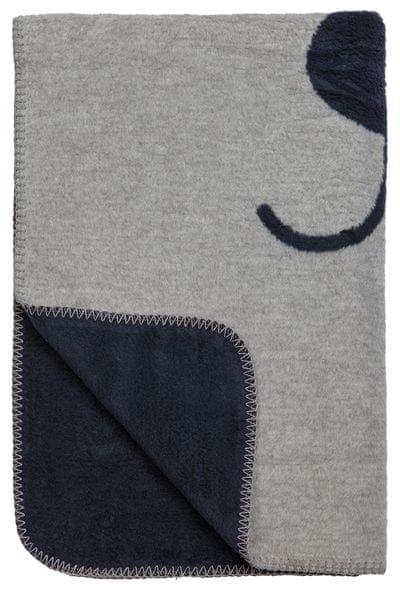 Meyco Deka 75x100 cm Premium Dessin Animal navy grey