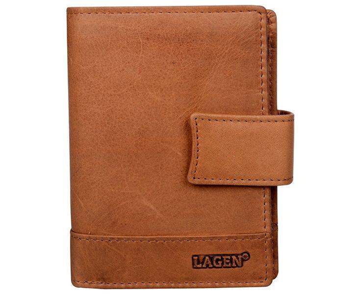 Lagen Pánská hnědá kožená peněženka Brown V-27/V