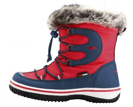 KangaROOS chlapecké sněhule Maple 34 červená/modrá