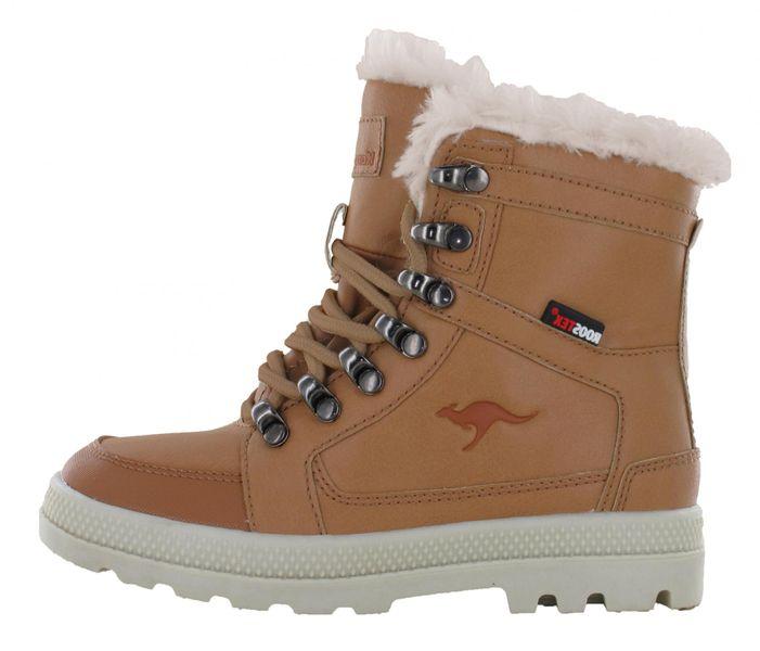 KangaROOS chlapecké zimní boty Plashy 34 hnědá