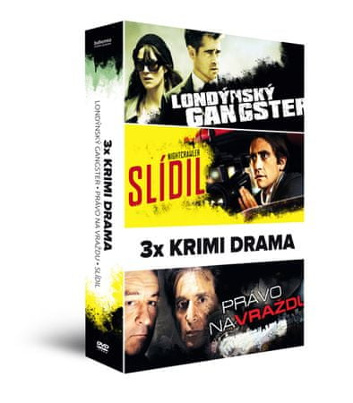 3x Krimi drama (3DVD): Londýnský gangster + Slídil + Právo na vraždu   - DVD