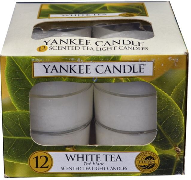 Yankee Candle Čajové svíčky White Tea 12x 9,8 g