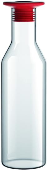 Viceversa Skleněná karafa 1L se silikonovým modrým uzávěrem