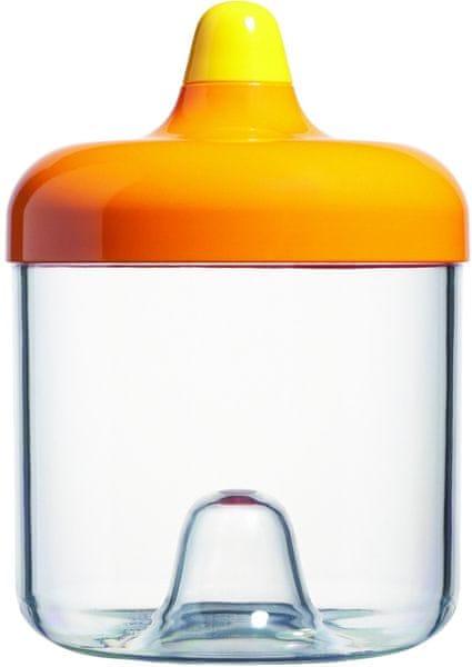 Viceversa Stohovatelná plastová dóza 750ml oranžová s víčkem