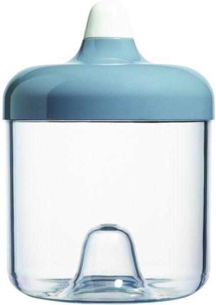 Viceversa Stohovatelná plastová dóza 750ml šedá s víčkem