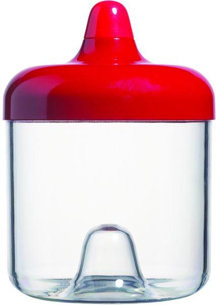Viceversa Stohovatelná plastová dóza 750ml červená s víčkem