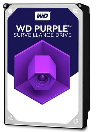 """WD trdi disk Purple 4 TB, 8.89 cm (3,5""""), SATA3, 5400, 64MB (WD40PURZ)"""