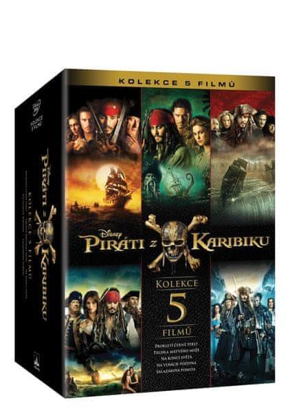 Piráti z Karibiku: Kolekce 1.-5. (5DVD) - DVD
