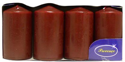Toro Svíčka válec tmavě červená 4 ks