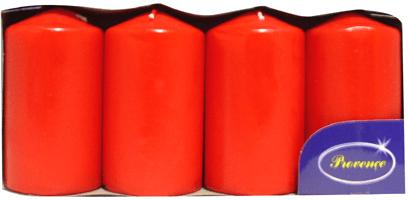 Toro Svíčka válec červená 4 ks