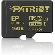Patriot spominska kartica microSDHC, 16 GB, Class 10, UHS-I U3