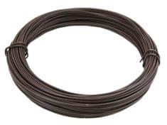 Vázací drát 1,4/2,0mm Zn+PVC, hnědý - délka 50m
