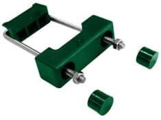 Příchytka z PVCk uchycení panelů obdélníkovým sloupkům PILODEL - zelená