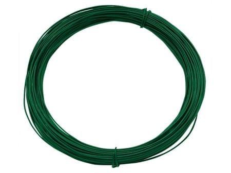 Vázací drát 1,4/2,0mm Zn+PVC, zelený - délka 50m