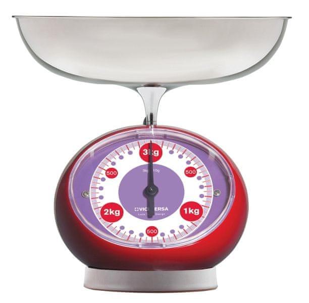 Viceversa Kuchyňská váha mechanická červená