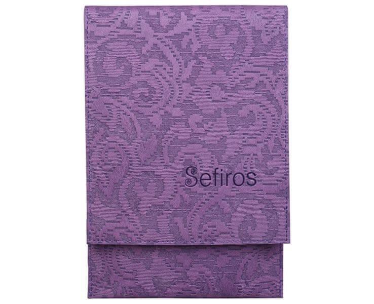 Sefiros Luxusní pouzdro na kosmetické štětce - fialové