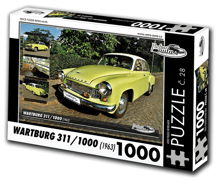 RETRO-AUTA© Puzzle č. 28 - WARTBURG 311/1000 (1963) 1000 dílků